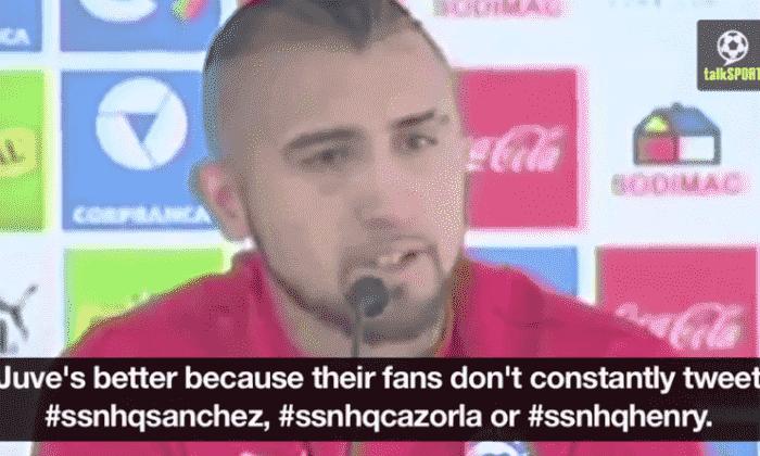 阿森纳转移谣言:Arturo Vidal在签署枪手*的前景下泪流满面*