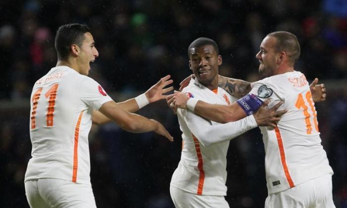 手表:Newcastle Midfielder Georginio Wijnaldum for Holland在狭窄的哈萨克斯坦赢了