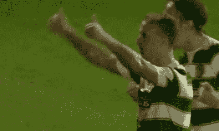 凯尔特人FC:Leigh Griffiths的目标和庆祝反对心 - 视频