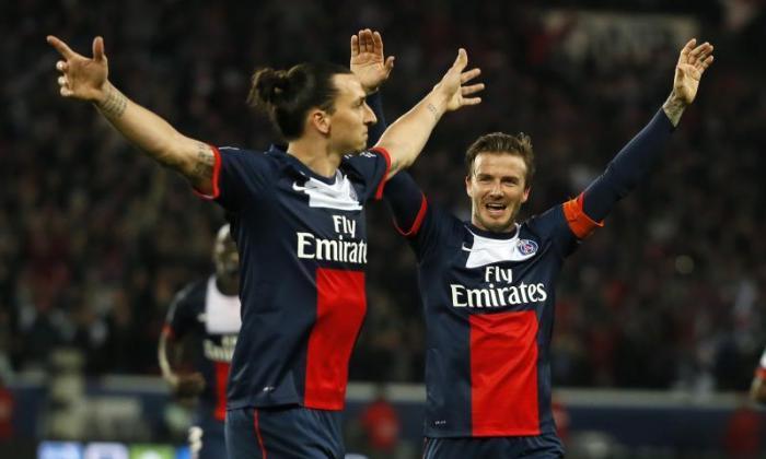David Beckham希望前PSG队友Zlatan Ibrahimovic加入新的MLS特许经营权