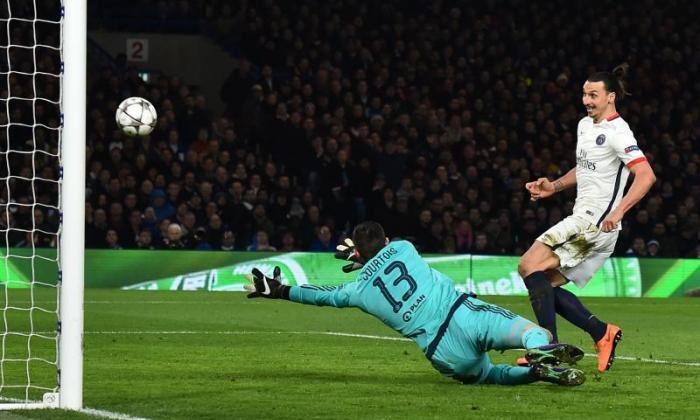切尔西1-2巴黎圣格雷曼(2-4 agg):Zlatan Ibrahimovic目标和协助送出冠军联赛的蓝调崩溃