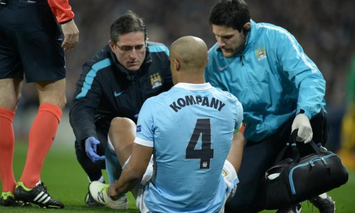 曼彻斯特市船长Vincent Kompany将在欧洲冠军联赛冲突中跛行后进行评估